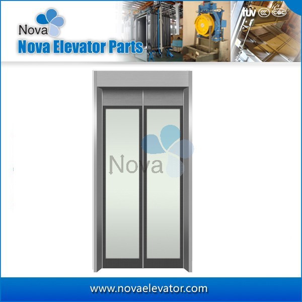 Fashion Design Passenger Elevator Glass Door Plate Panoramic